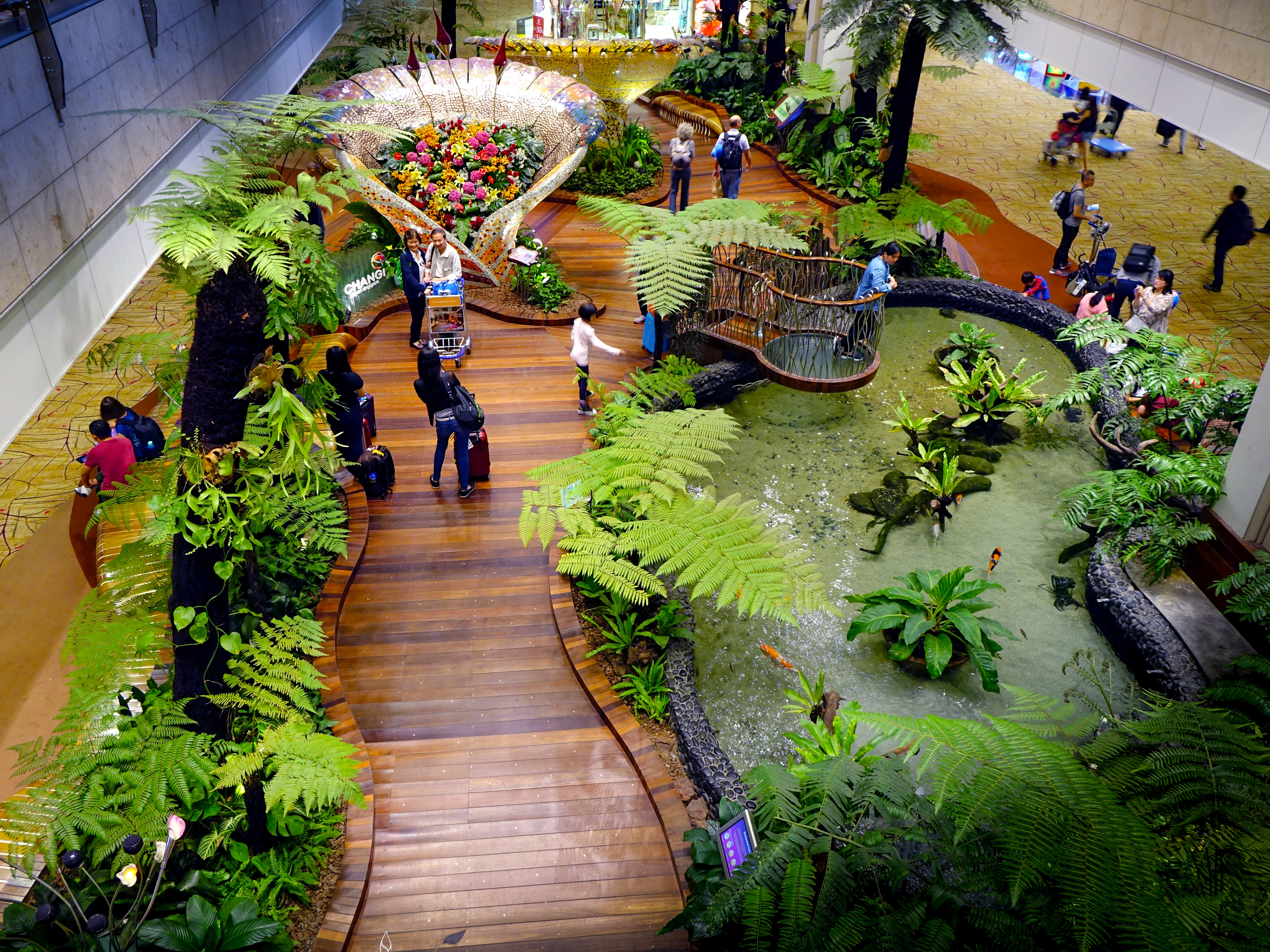The World's Best Airport Just Installed The World's Biggest Indoor Waterfall