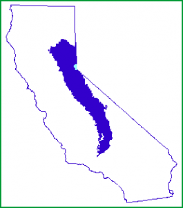 Sierra Nevada California map