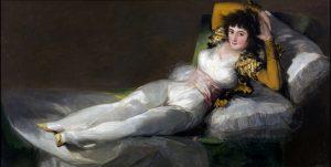 The Clothed Maja by Francisco de Goya, Aragon, Spain